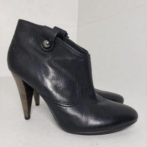 Coach Aliza Black Round Closed Toe Heeled Booties